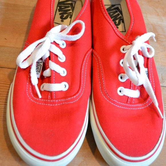 Vans Shoes   Vintage Red Canvas Sneaker